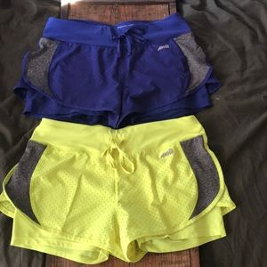 (2) Avia Running Shorts with Built in Spandex